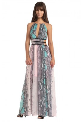 GUESS Long python pattern dress - FANTASY