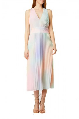 GUESS Long multicolor plisset dress -