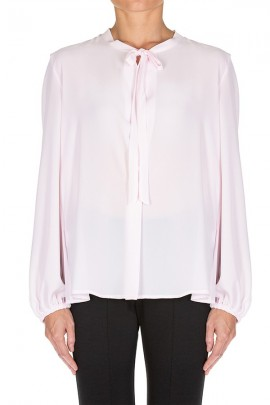 KAOS Long sleeve blouse and crew neck with laces - ROSA
