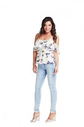 GUESS Floral over top - WHITE