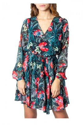 GUESS Short floral long sleeve dress -