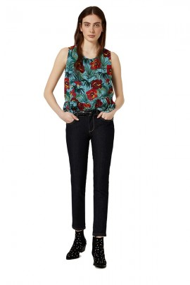 LIU JO Floral sleeveless top