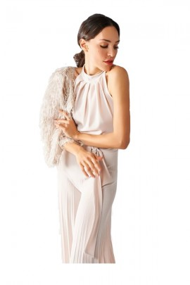 RENAISSANCE Sleeveless jumpsuit and plisset pantapalazzo