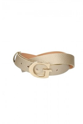 GUESS Hammered belt and gold buckle - GOLD