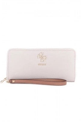 GUESS Wallet in textured leather - WHITE