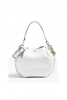 GUESS Double shoulder bucket bag - WHITE