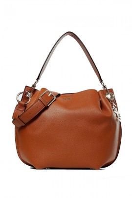 GUESS Double shoulder bucket bag - BROWN