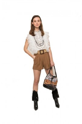 SILVIAN HEACH Shorts with penze and braided belt