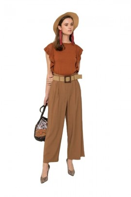 SILVIAN HEACH Cropped trousers with belt
