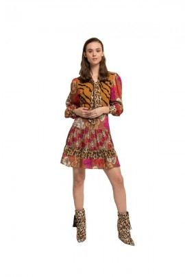 SILVIAN HEACH Short fantasy long sleeve dress - FANTASY
