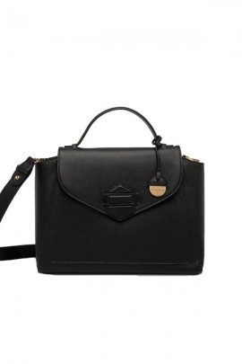 SILVIAN HEACH Satchel bag in eco-leather - BLACK
