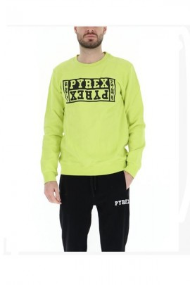 PYREX Crew neck sweatshirt and reverse logo - YELLOW