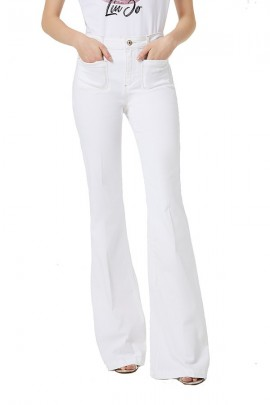 LIU JO Flared trousers and external pockets