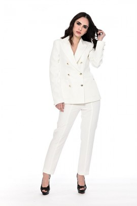 KOCCA Double breasted jacket with gold buttons - WHITE