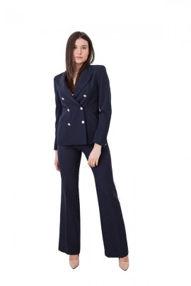KOCCA Double breasted jacket with gold buttons - BLUE