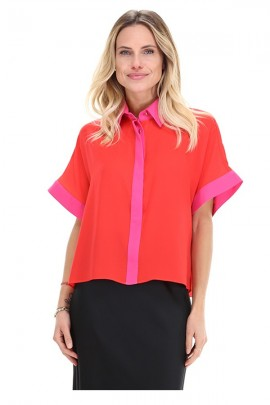 KOCCA Blouse / shirt with pink contrasts