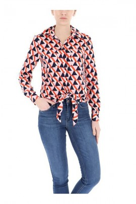 KOCCA Geometric patterned shirt