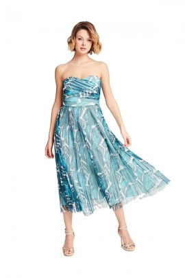 GUESS Bandeau dress and pleated skirt - VERDE