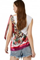 LIU JO Half fantasy sleeveless blouse