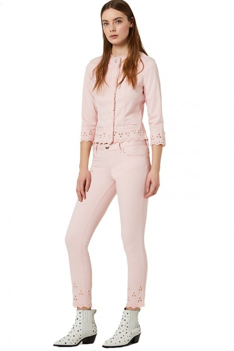 LIU JO Cotton trousers and ankle tunnel
