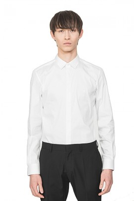 ANTONY MORATO Slim shirt with covered buttons - WHITE