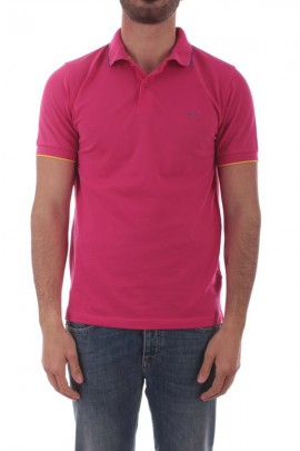 SUN 68 Basic polo shirt with contrasting piping - VIOLET