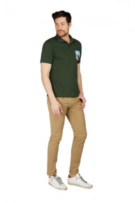 SUN 68 Polo shirt with fancy pocket