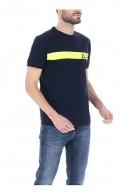 SUN 68 Neon stripe T-shirt and logo