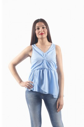 FRACOMINA Sleeveless blouse and knot