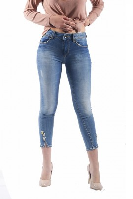 FRACOMINA Short jeans with stones