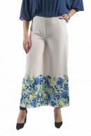 FRACOMINA Cropped palazzo ankle flowers