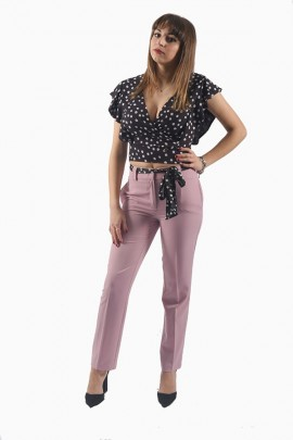 FRACOMINA Chino trousers and polka dot foulard belt