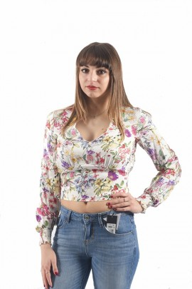 FRACOMINA Long-sleeved floral blouse