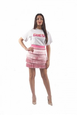 GUESS Fringed mini skirt