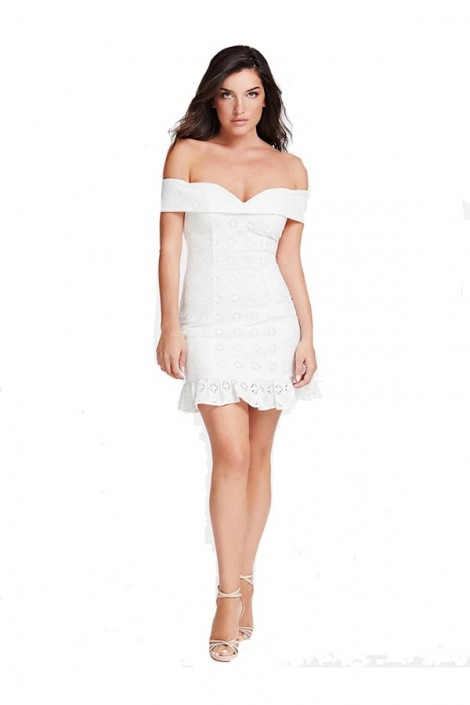 GUESS Short openwork and low-cut dress