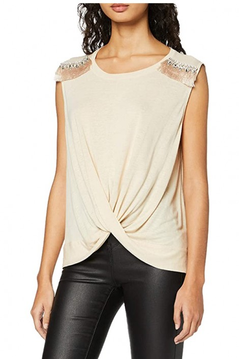 GUESS Sleeveless blouse with shoulder stones