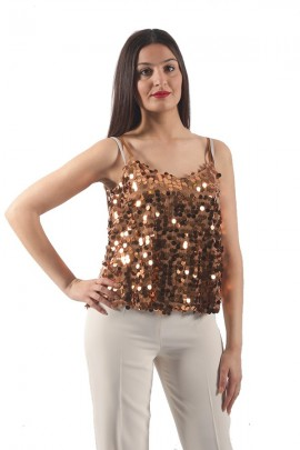 KOCCA Sequined tank top max