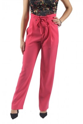 KOCCA High waist trousers with drawstring - VIOLET
