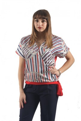 KOCCA V-neck blouse with marine print