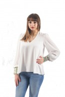 KOCCA Blouse with sequin cuff