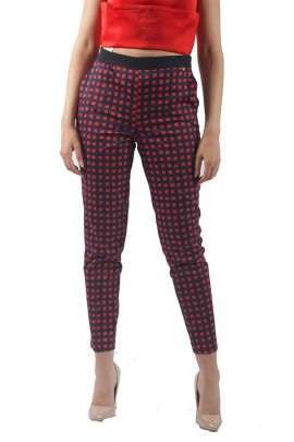 KOCCA Check print trousers