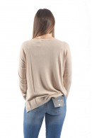 KONTATTO Long-sleeved boat neck sweater