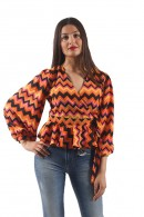 SILVIAN HEACH Fancy blouse with wallet closure
