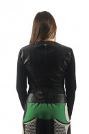 RENAISSANCE Leather and tulle jacket