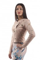 RRENAISSANCE Perforated suede jacket and ring