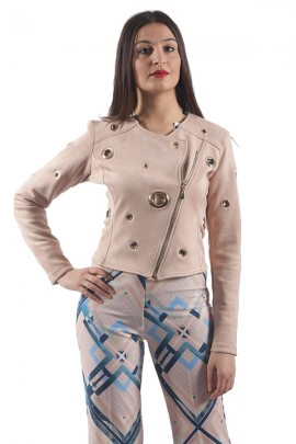 RENAISSANCE Perforierte Wildlederjacke und Ring - ROSE