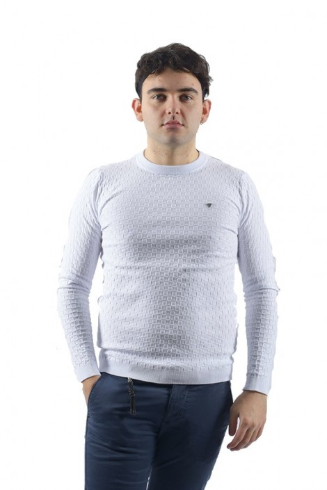 FIFTY FOUR Checked crew neck sweater