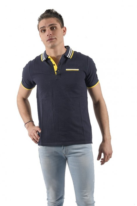 GUESS Polo shirt with pocket and contrast