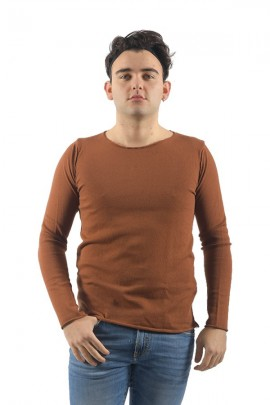 IMPERIAL Crew neck sweater - BROWN