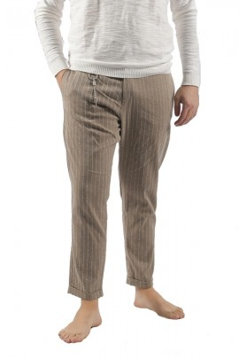 IMPERIAL Ankle-length and striped trousers